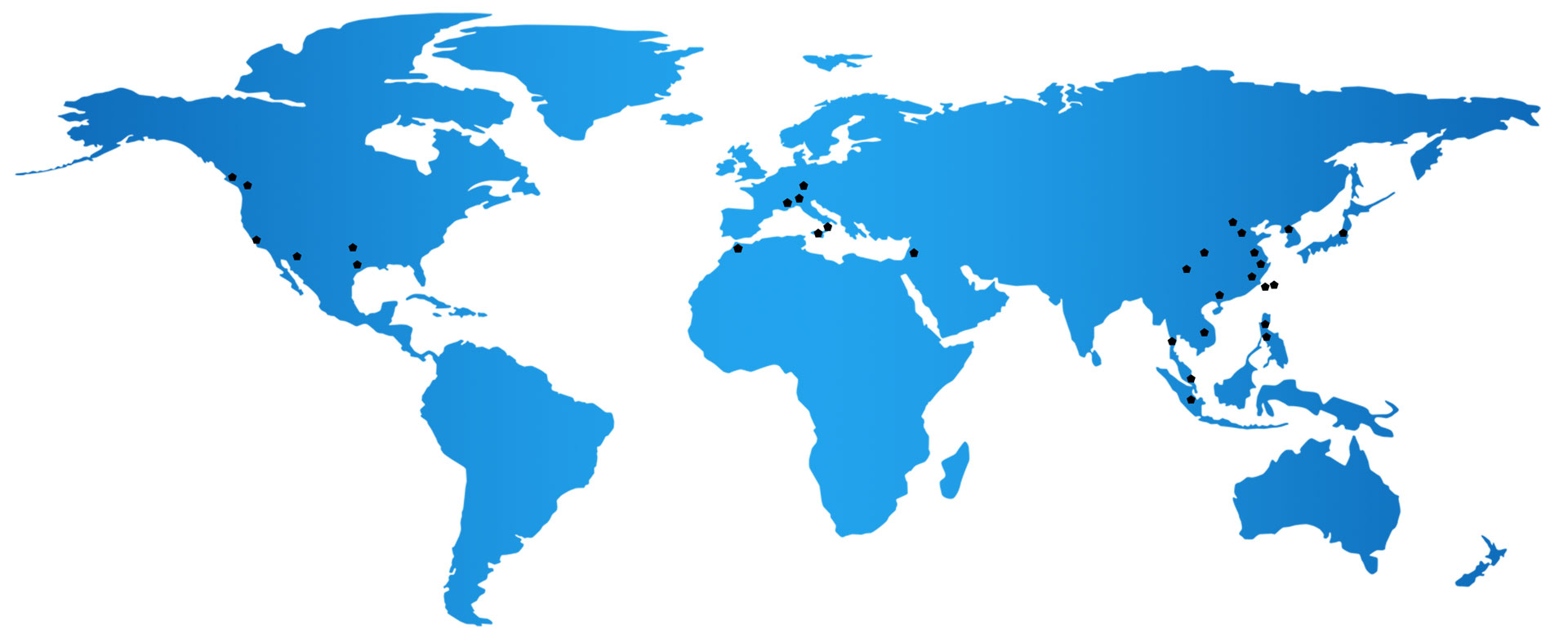 World Map Locations Cohu Product Development, Operations and Principal Sales/Service